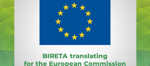 EU flag Bireta translates for European Commission
