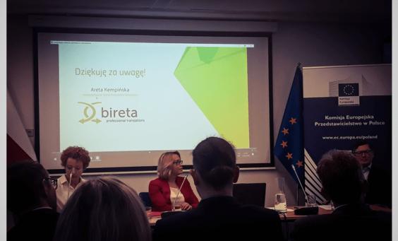 Wystąpienie Arety Kempińskiej podczas Translating Europe Workshop