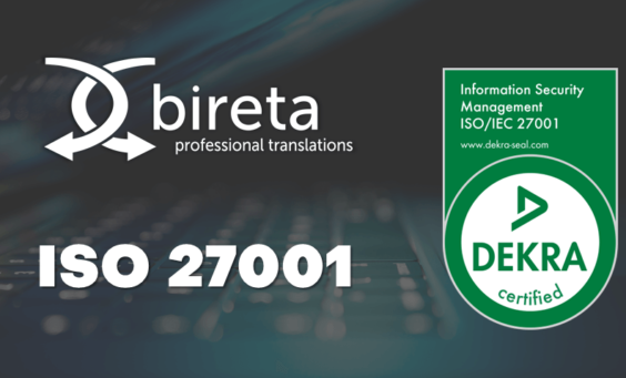 Logo Bireta i logo ISO 27001 Dekra