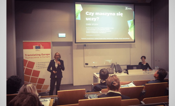 Areta Kempińska prezentacja biura tłumaczeń Bireta na Translating Europe Workshop