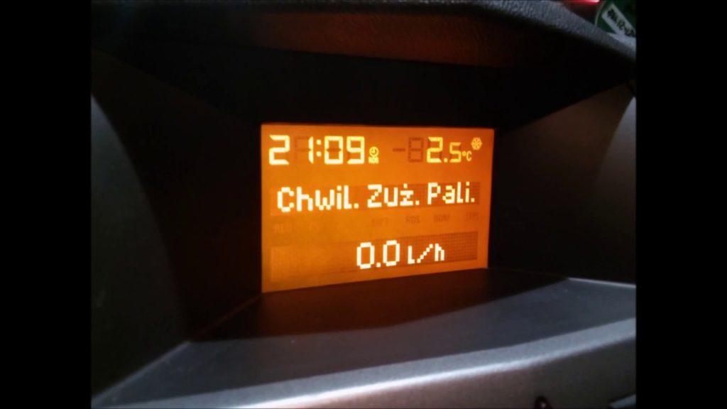 Ekran komputera pokładowego samochodu